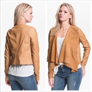 Hinge Leather Suede Waterfall Jacket Small